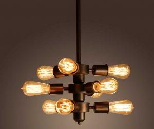Mariam 9-light Adjustable Bulb Socket Edison Chandelier Including Bulbs
