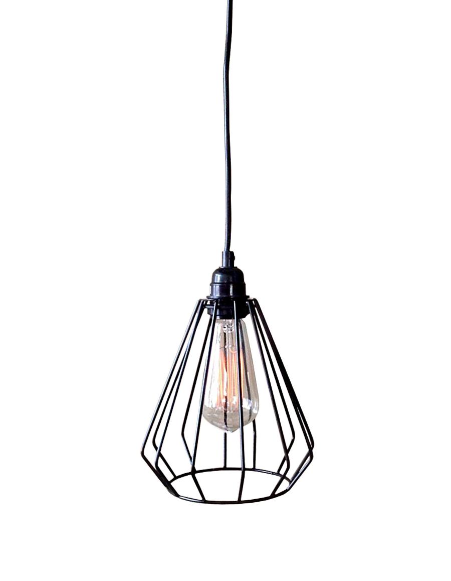 Lainie 1-light Black Adjustable Cord 7-inch Edison Pendant Lamp with Bulb