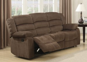 Brown Contemporary Polyester RecliningLiving Room  Sofa