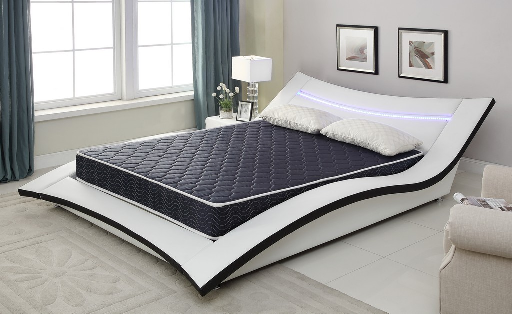 "6"" Navy Blue Twin Foam Mattress Covered in a Stylish Waterproof  Fabric"
