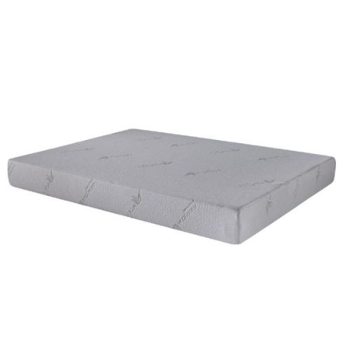 "6"" Twin Polyester Memory Foam Mattress Covered in a Soft Aloe Vera Fabric"