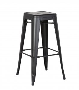 """30"""" Matte Black Backless Metal Barstool With a Set of 2"""