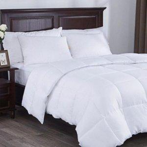 White Medium Weight Hypoallergenic Twin Down Alternative Comforter Duvet insert