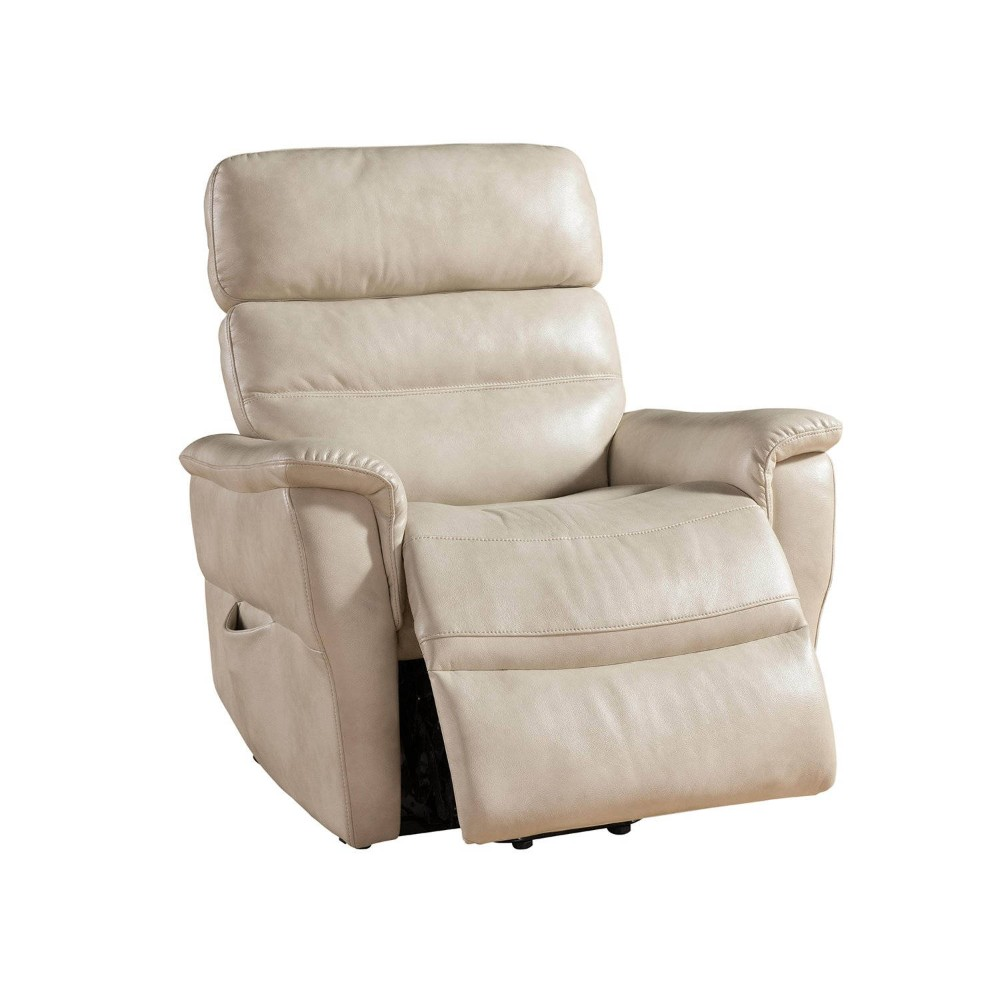 Cream Contemporary Select Hardwood Power Reclining Lift Chair