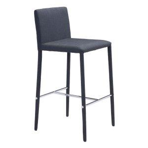 "16.9"" X 20"" X 35"" 2 Pcs Black Polyblend Counter Chair"