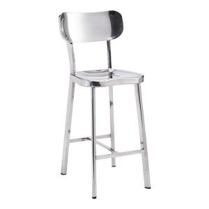 "15.6"" X 17.7"" X 37.4"" 2 Pcs Stainless Steel Counter Chair"
