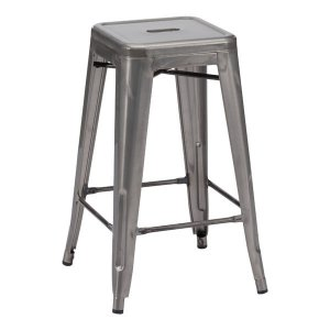 Counter Stool Gunmetal (Set Of 2) - Steel