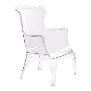 "28.3"" X 30.5"" X 38"" Transparent Polycarbonate Chair"