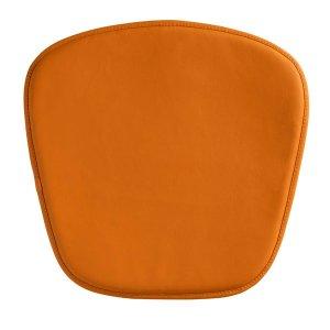 "17"" X 17"" X 0.5"" Orange Leatherette Wire Mesh Cushion Chair"