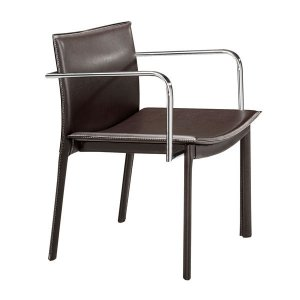 "24"" X 22"" X 28"" 2 Pcs Espresso Leatherette Conference Chair"