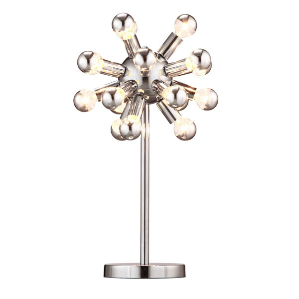 """14"""" X 10"""" X 20.5"""" White And Black Simi Table Lamp"""