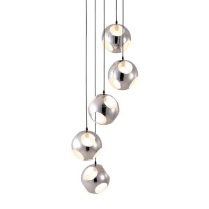 "23.6"" X 23.6"" X 68"" Chrome Shower Ceiling Lamp"