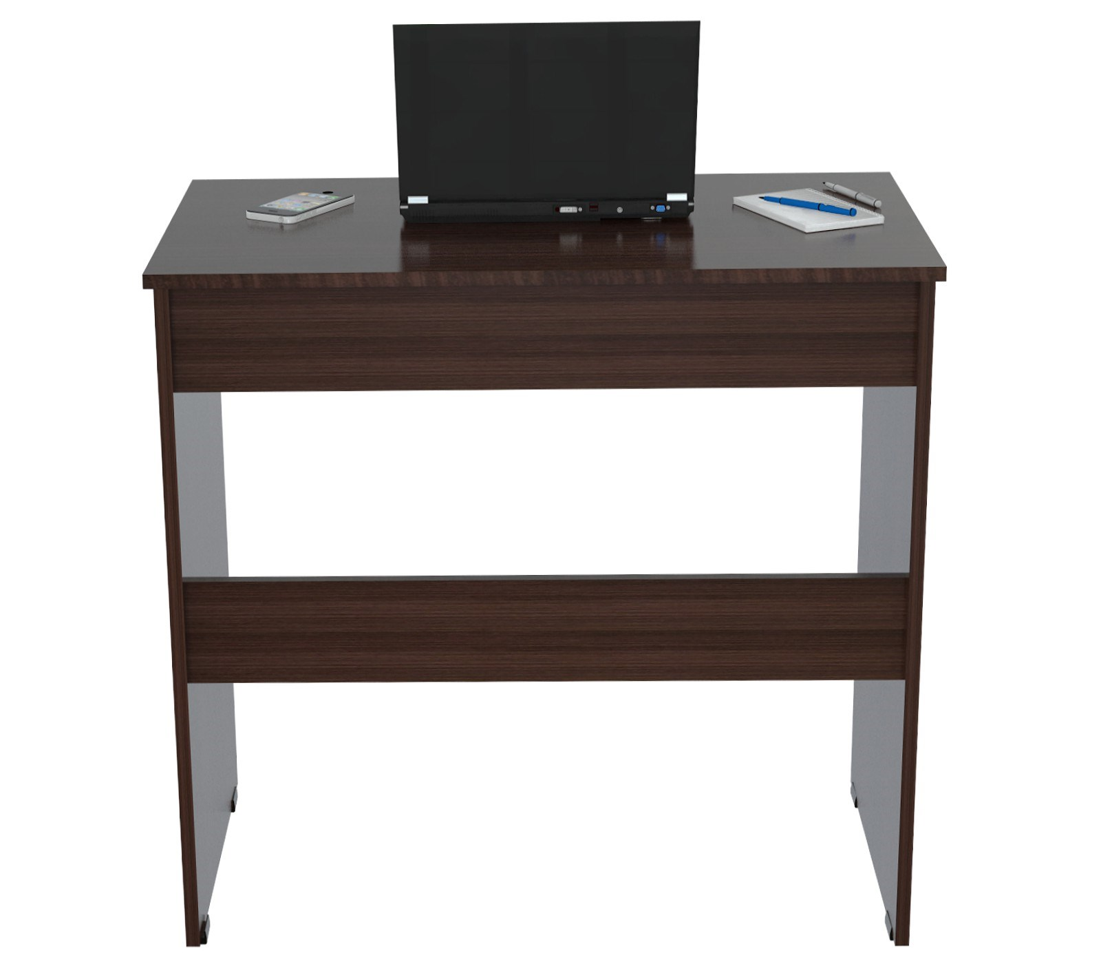 "31.5"" Classy Espresso Melamine and Engineered Wood Writing Desk with a Drawer"