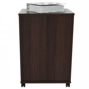 "27.6"" Espresso Melamine and Engineered Wood File Cabinet with Two Drawers"