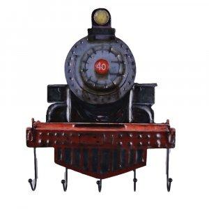 Rustic Rail Engine Wall Hooks