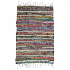 Rainbow Multicolored Reversible Rag Rug