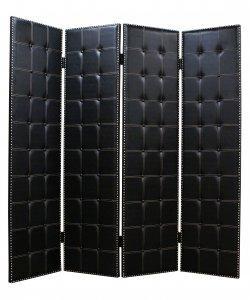 "1"" x 84"" x 84"" Black, Faux-leather - Screen"