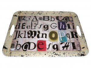 """1"""" x 20"""" x 15"""" Multi-Color, Metal - Inspiration Tray"""