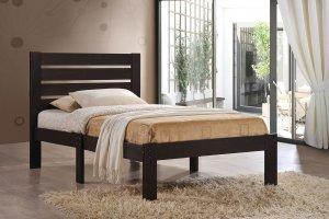 """78"""" X 58"""" X 39"""" Full Espresso Poplar Wood Bed"""