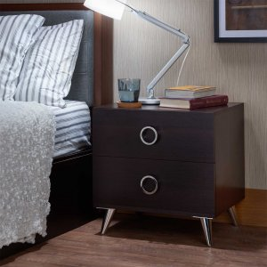 "19'.69"" X 16'.61"" X 19'.76"" Black Particle Board Nightstand"