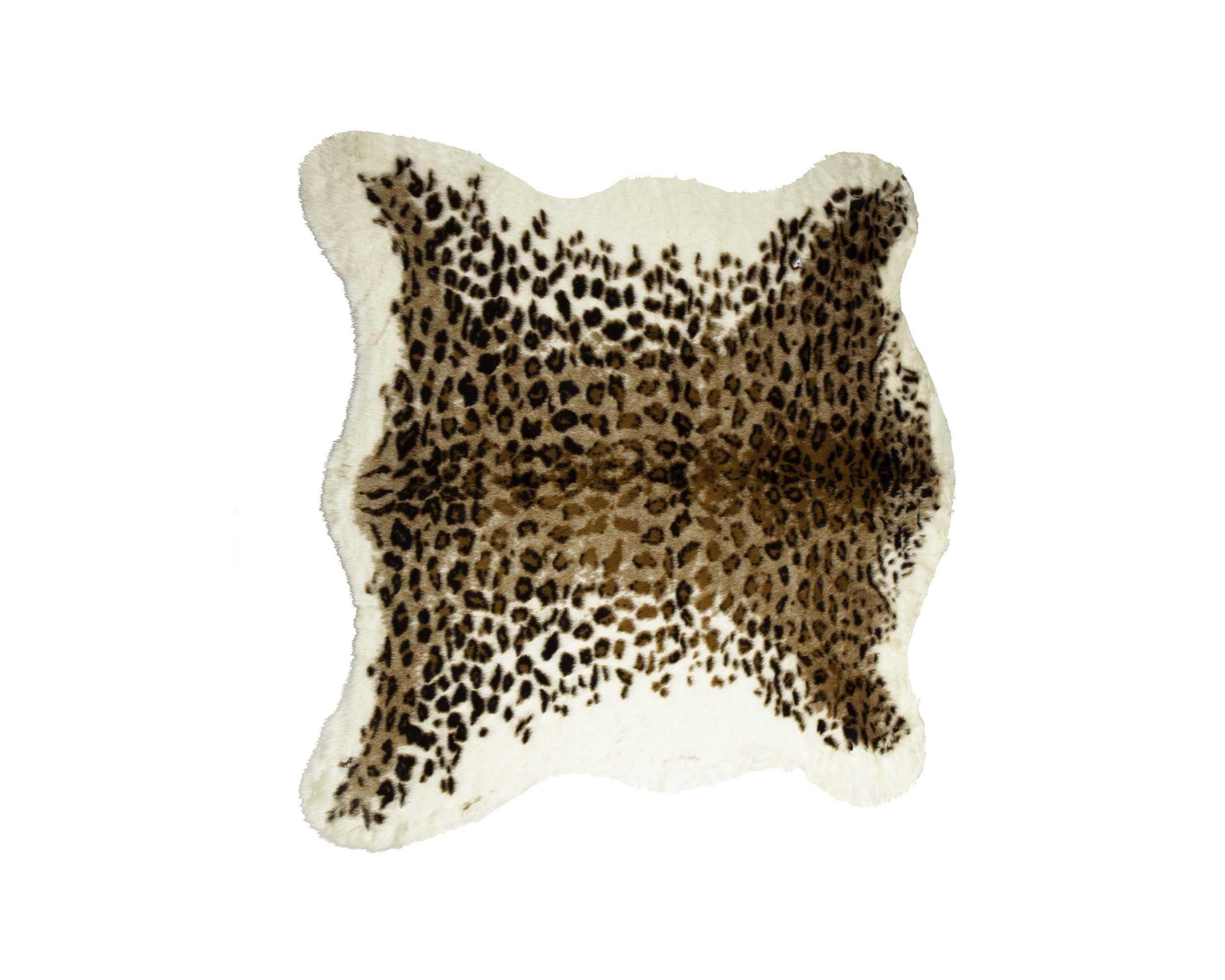 4.25' X 5' El Paso Leopard Faux Hide Area Rug