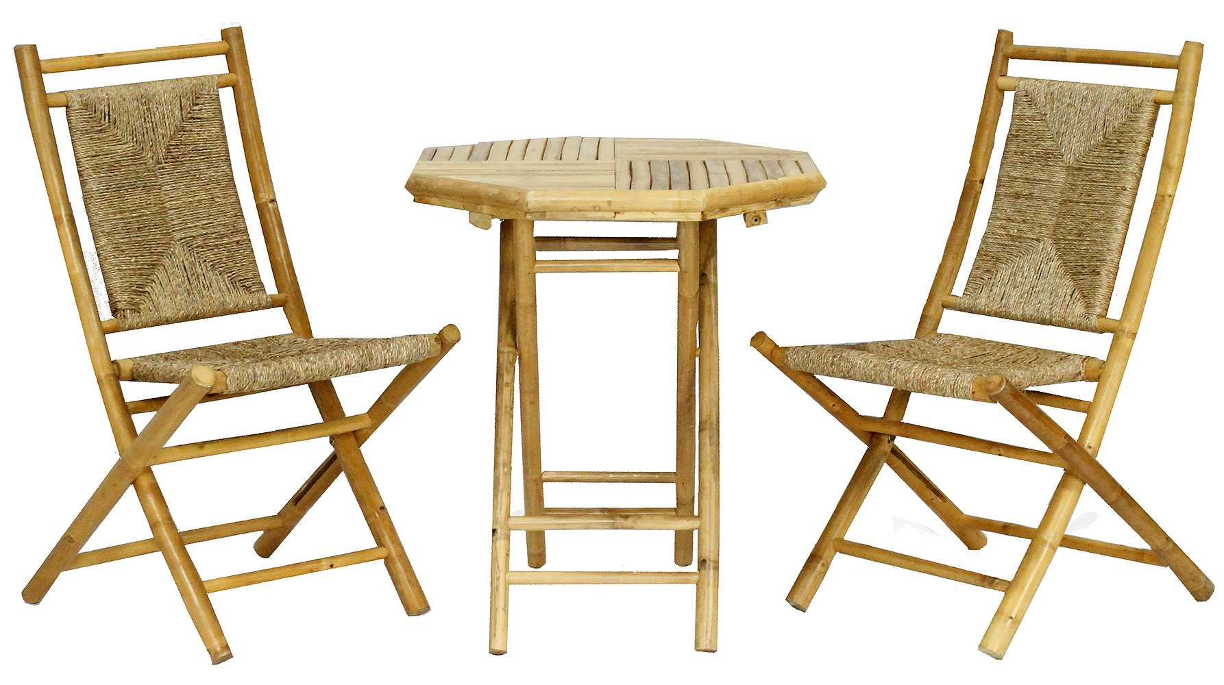 """36"""" Natural Sea Grass Weave set of 2 Chairs and a Table"""