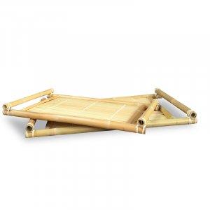 """24"""" X 16"""" X 2"""" Natural Bamboo Natural Bamboo Nesting Trays"""