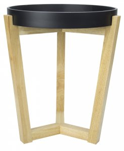 "16"" X 16"" X 20"" Black MDF, Wood End Table"
