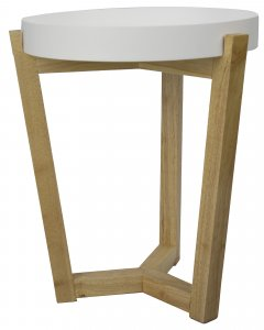 """16"""" X 16"""" X 20"""" White MDF, Wood End Table"""