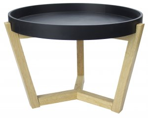 "16"" Black Coffee Table"