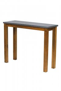 """39'.5"""" X 14"""" X 31'.5"""" Acacia And Cement MDF, Wood (Acacia) Console Table"""