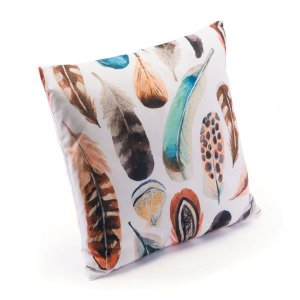 "17.7"" X 17.7"" X 1.2"" Nature-Inspired Multicolor Pillow"