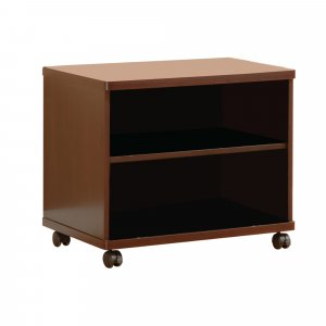 Transitional Style TV Cart With Open Shelves, Brown