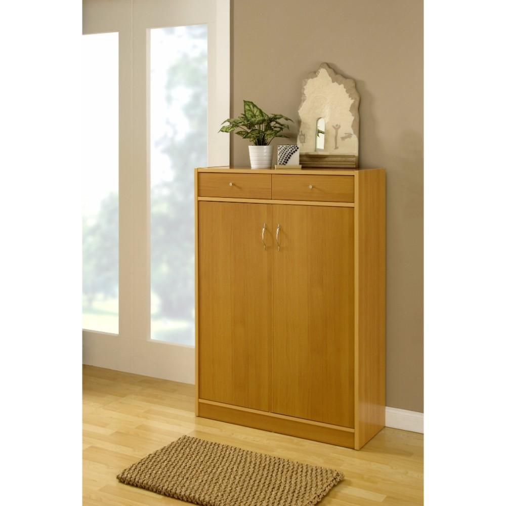 Shoe Cabinet With Adjustable Shelves, Brown