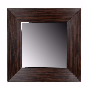 Dapper Mirror With Wooden Frame