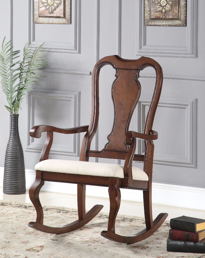 Rocking Chair, Cream and Brown