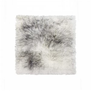 "16"" X 16"" Gradient Gray, Sheepskin - Seat/Chair Cover"