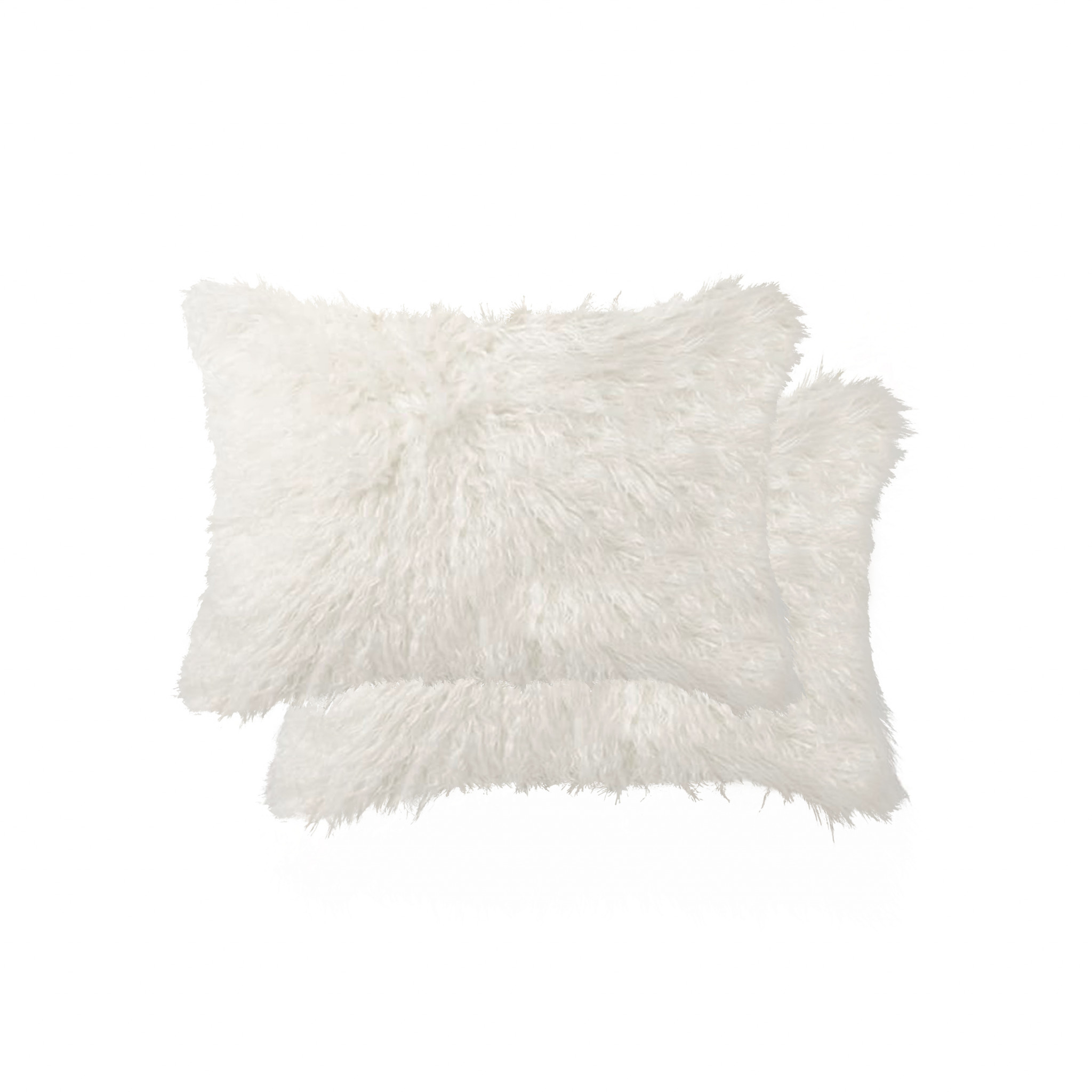 """12"""" X 20"""" Off White Faux 2-Pack Pillow"""
