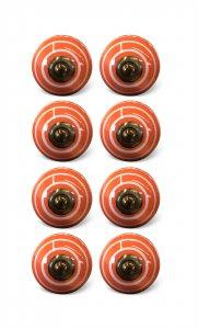 "1.5"" x 1.5"" x 1.5"" Bronze, White And Orange - Knobs 8-Pack"
