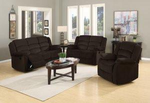 """120"""" Contemporary Brown Fabric Sofa Set"""