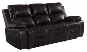 "40"" Classy Brown Leather Sofa"