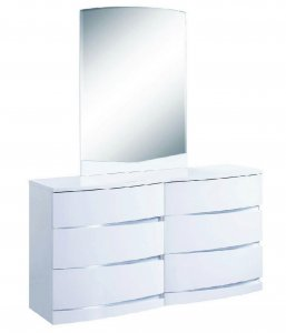 "32"" Exquisite White High Gloss Dresser"