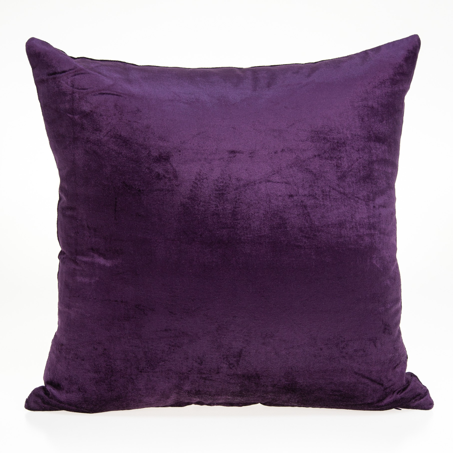 """22"""" x 0.5"""" x 22"""" Transitional Purple Solid Pillow Cover"""