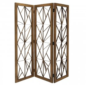 """63"""" x 1.5"""" x 72"""" Brown, Wood And Metal, Incline - Screen"""