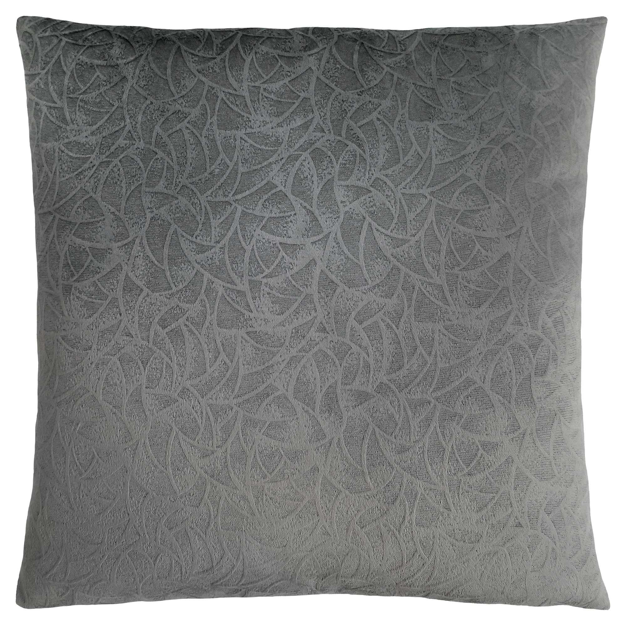 """18""""x 18"""" Pillow Dark Grey Floral Velvet 1pc"""