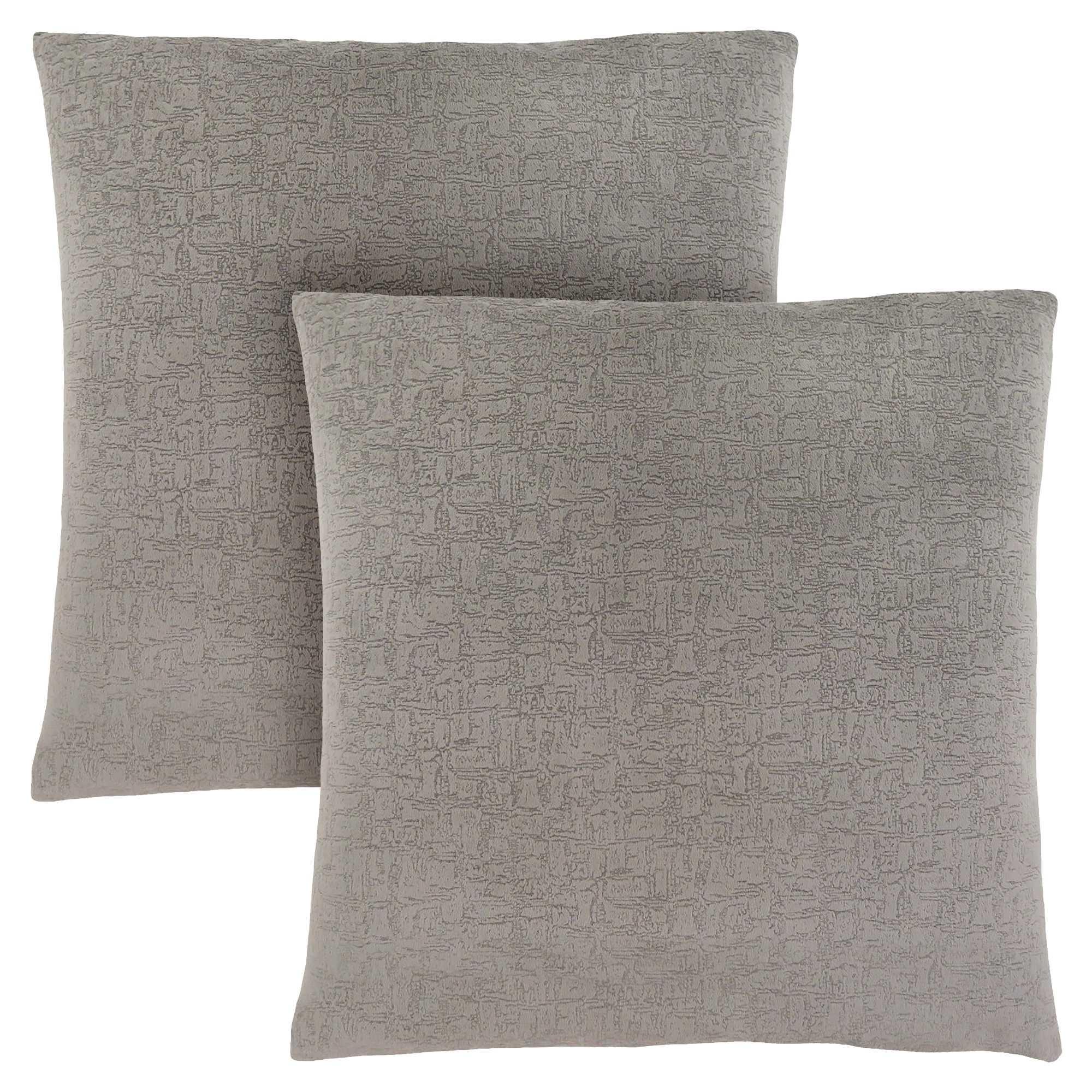 """18""""x 18"""" Pillow Grey Mosaic Velvet 2pcs"""